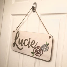 Small Nursery Name Sign