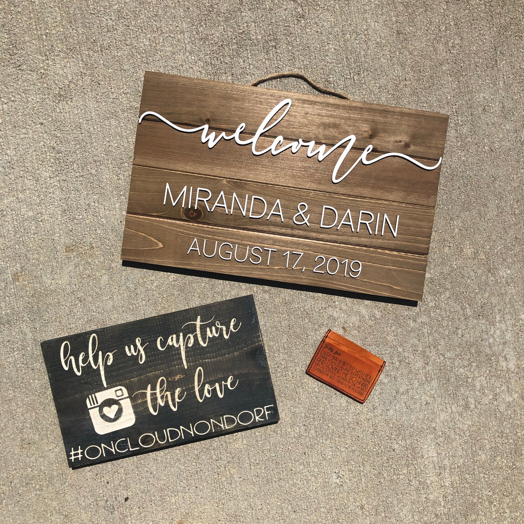 Customized wedding #sign