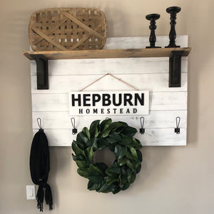 Entry Coat Rack with Shelf