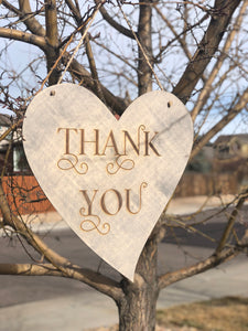 """Thank you"" sign"