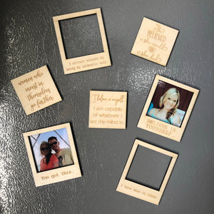 BULK Customizable Magnets (Polaroid and square styles)