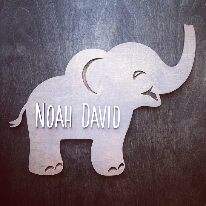 Elephant Name Sign