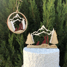 3 Layer Mountain Ornament (First Christmas as Mr. Mrs.)