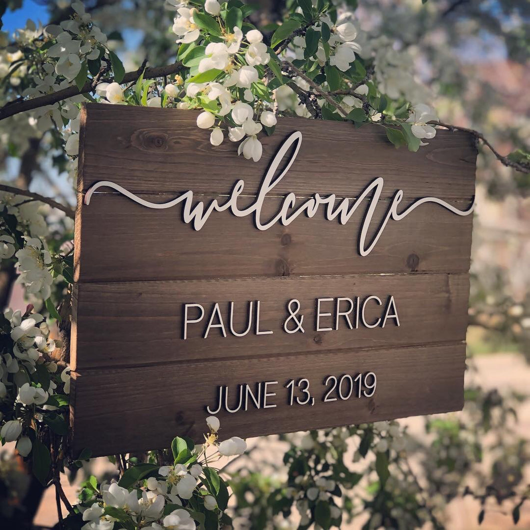 "Custom ""Welcome"" sign"