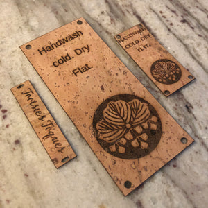 25 Custom Cork Tags (Knitting or Crochet)