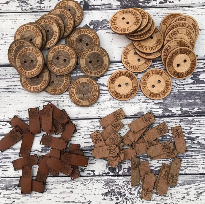 30 Custom Wood Buttons (Knitting or Crochet)