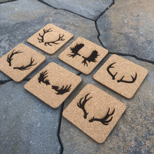 Antler Cork Coasters (set of 6)