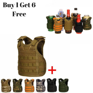 7 Pack Tactical Bottle Cover Tactical Vest