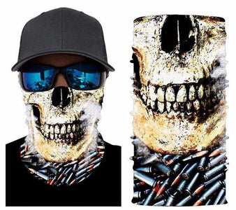 Skulled Bullet Face Mask