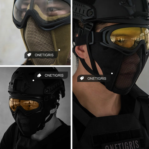 OneTigris Tactical Foldable Half Face Mask
