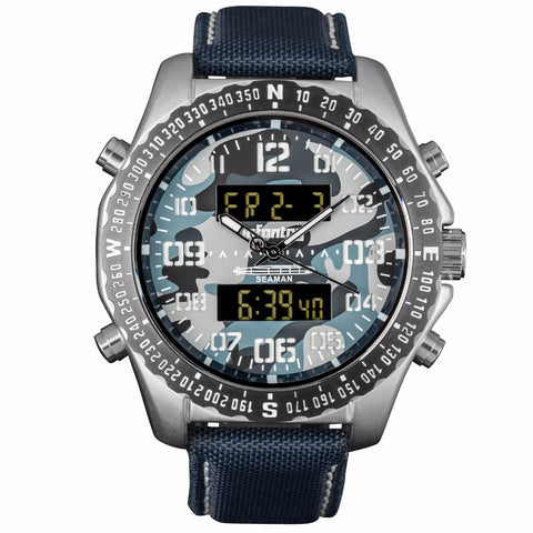 Analog/ Digital Tactical Watch - Multicam