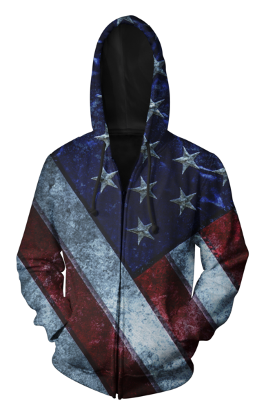AMERICA THE GREAT ZIP UP HOODIE