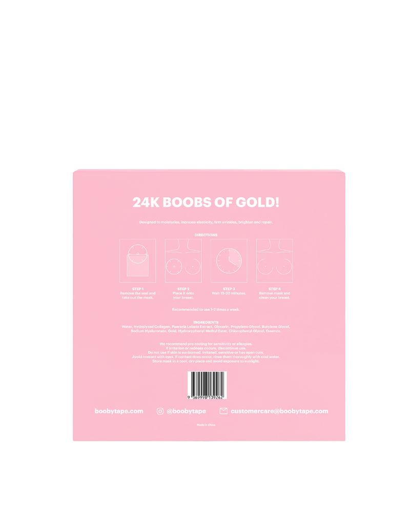 24K Gold Breast Masks