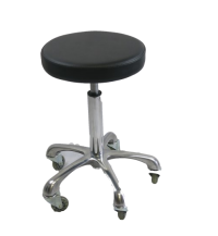 STOOL Black with Aluminium Base