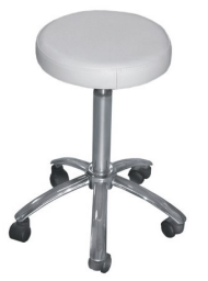 STOOL WHITE WITH ALUMINIUM BASE