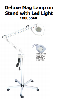 DELUXE MAGNIFYING LAMP ON STAND LED