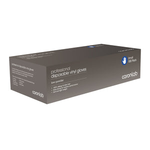 CARONLAB Professional Disposable Vinyl Gloves 100pk - Low Powder