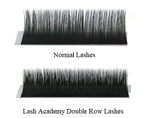 LASH ACADEMY MEGA VOLUME FAST & EASY FANS 'DOUBLE ROW' D 0.05 MIXED TRAY