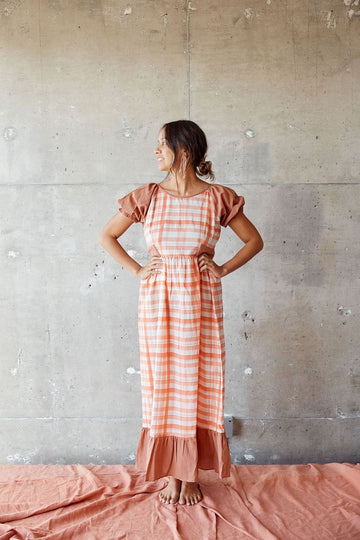 RESTOCKED Prairie Gabriella in Peach Sunset