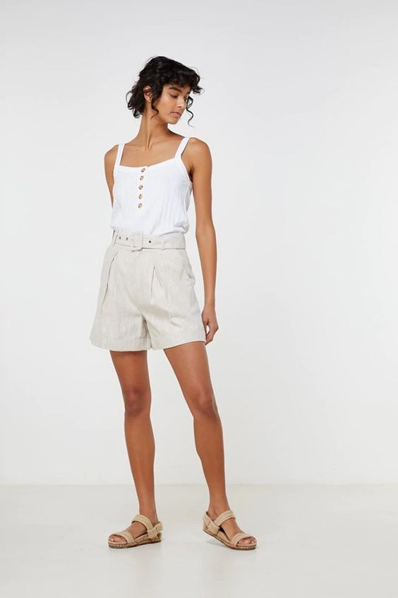 Ornella Shorts	Natural