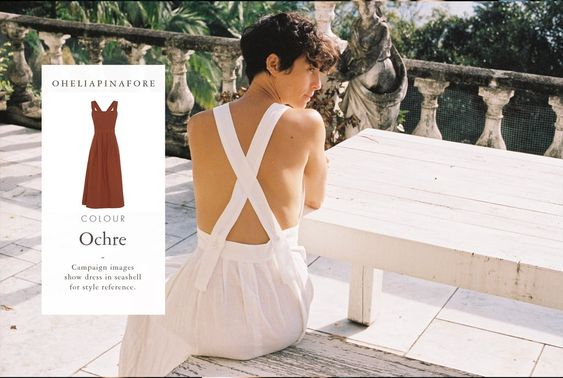 Ophelia Pinafore Dress in Ochre