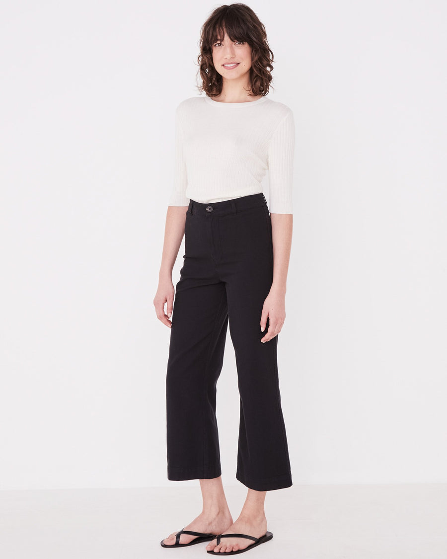 Tala Canvas Pant in Black