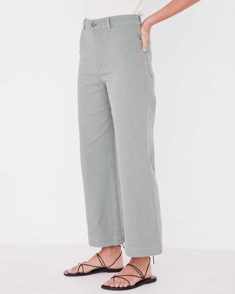 Tala Canvas Pant in Mineral Green