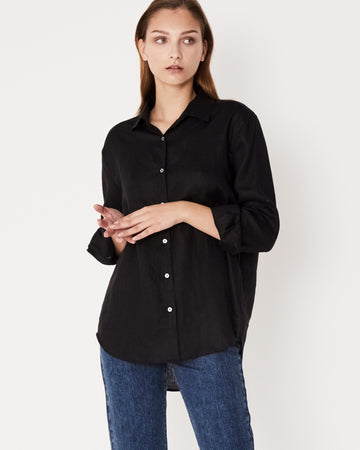 restocked Xander Long Sleeve Shirt in Black