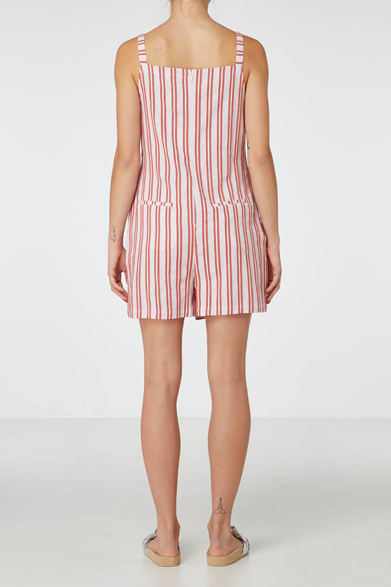 Florence Jumpsuit in Red Stripe