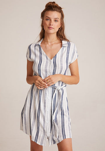 Cap Sleeve Belted Pocket Dress