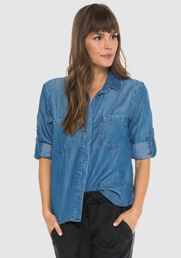 Split Back Button Down Well Worn Wash