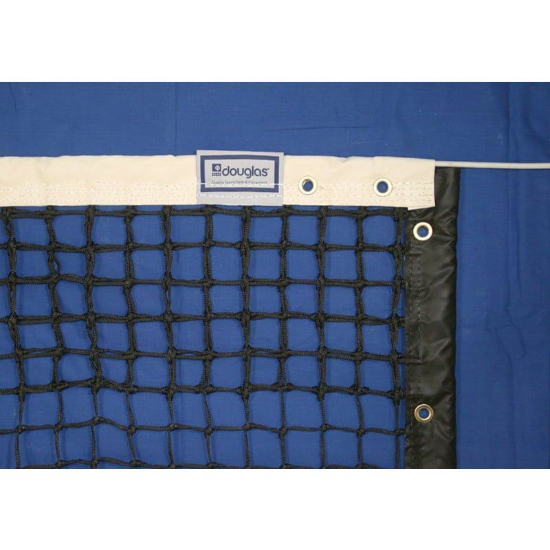 Douglas TN-36DMT Tennis Net, 3.5mm Double Mesh Tapered with 2-Ply Vinyl Headband
