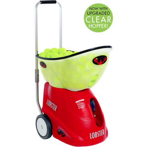 Lobster Elite Grand Five Clear Hopper Tennis Ball Machine