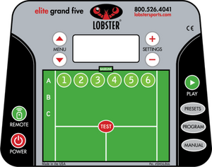 Lobster Elite Grand Five Control Panel