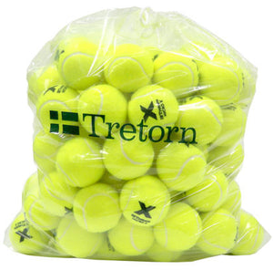 Tretorn Micro-X Pressureless Bag of 72 Yellow Tennis Balls