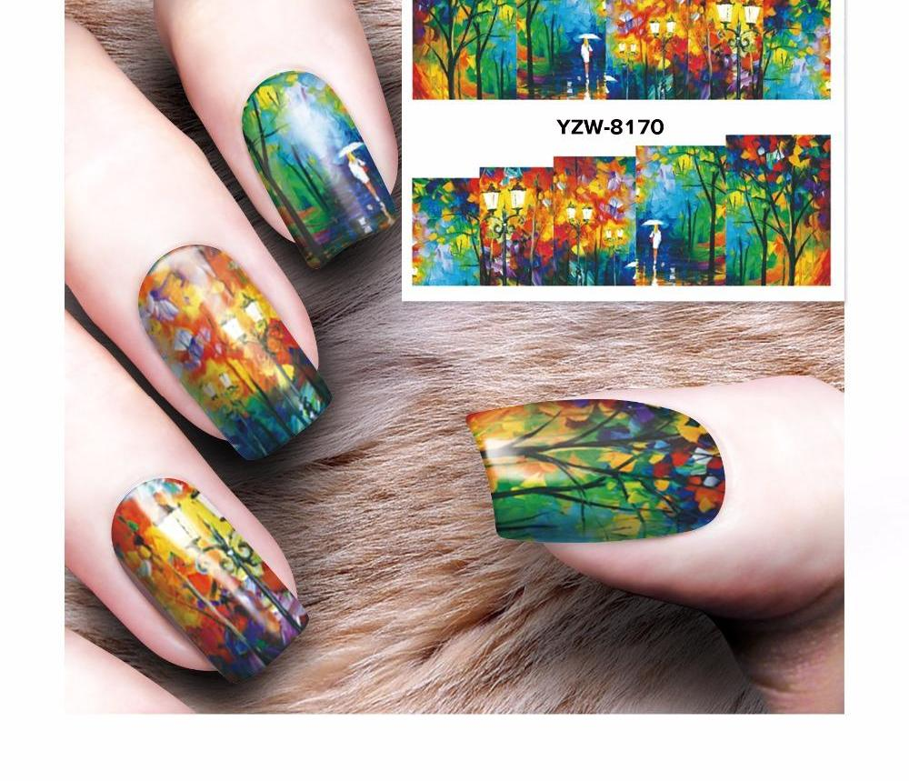 Japanese Garden Nail Decals Or Water Transfer Stickers