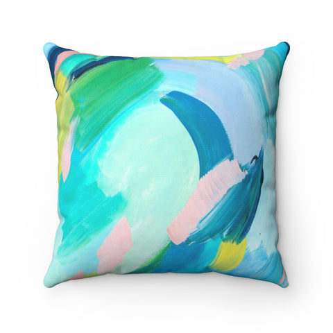 Pond Abstract Art Throw Pillow