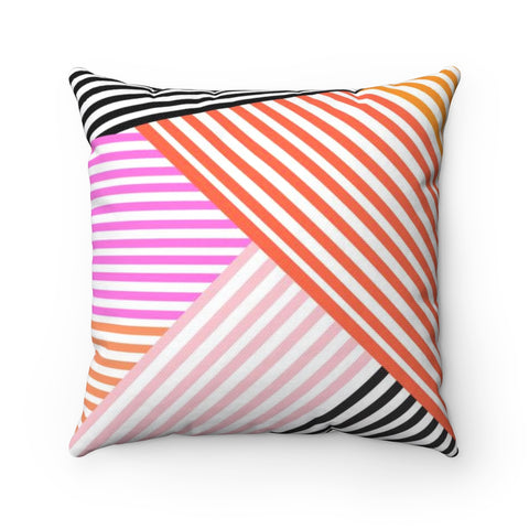 Halloween Stripe Throw Pillow