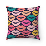 Lip Pucker Valentine's Throw Pillow