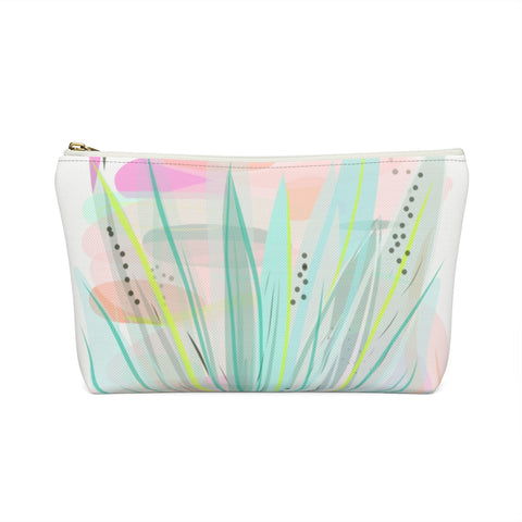 Abstract Aloe Plant Zipper Pouch