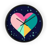Geometric Heart Wall Clock for Valentine's Day