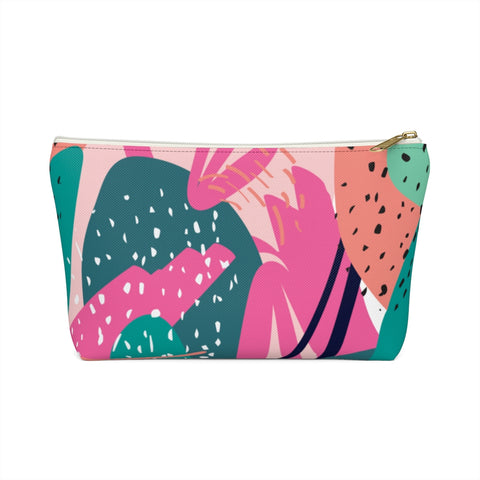 Abstract Cactus Print Zipper Pouch