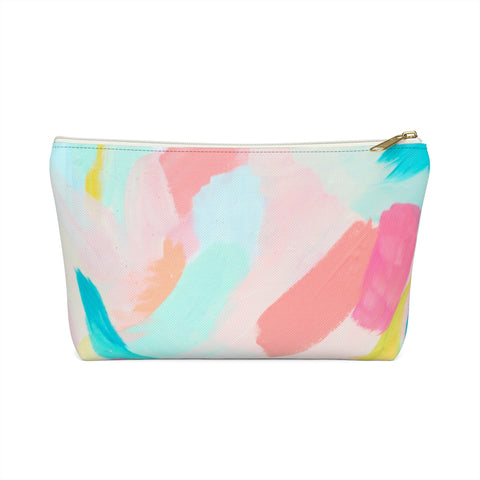 Abstract Brushstroke Zipper Pouch