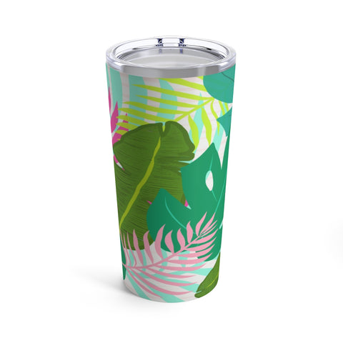 Colorful Tropical Print Drink Tumbler