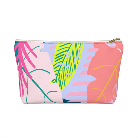 80's Tropical Print Zipper Pouch