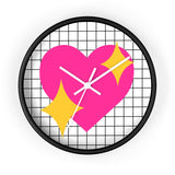 Heart Emoji Valentine's Day Wall Clock