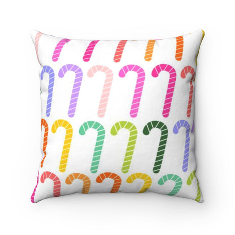 Candy Cane Square Pillow Case - No Insert
