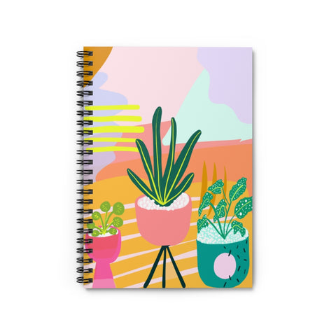 Plant Lady Desert Print Notebook - Ruled Line