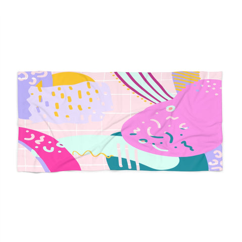 Pastel 80s Beach Towel