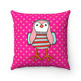 Coolest Chick Valentine's Day Pillow - Square Pillow Case - No Insert